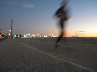 A runner at Santa Monica