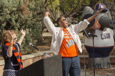 Mason during 2013 Homecoming Week, photo by CSUF.