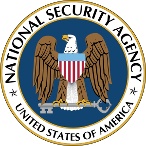 The NSA seal; photo from Wikimedia Commons.