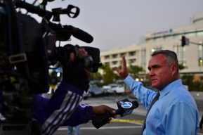 Witness Todd Degalo tells the media how he helped people stuck in their cars from the crash