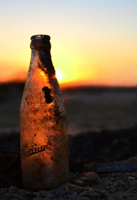 Bottle at Sunset