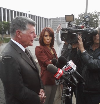 Defense Attorney John Barnett tells reporters that former officers Ramos and Cincinelli acted by the book and according to their training at a news conference outside the Orange County Superior Courthouse on Thursday morning.