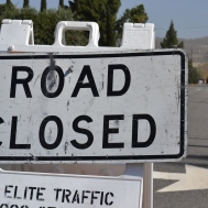 Rose Drive was closed Tuesday morning.