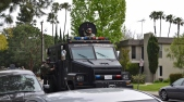 The manhunt used Irvine Police's armored SWAT vehicle