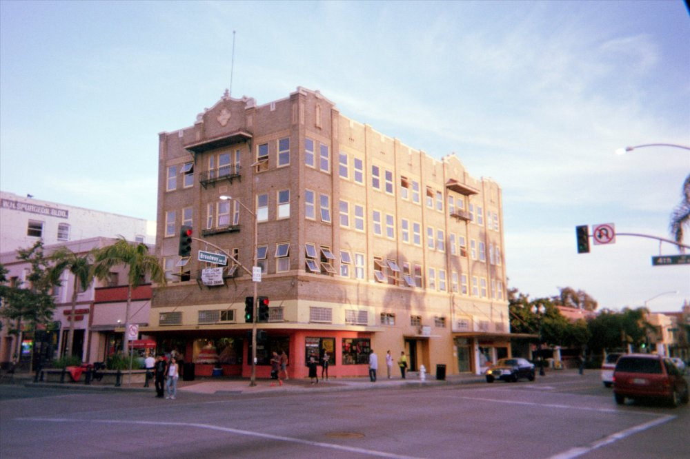 Downtown Santa Ana in March 2015. Digital scan from a Fujifilm 400 disposable camera.