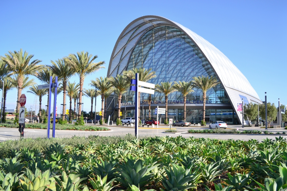 The Anaheim Regional Transportation Center as seen in July 2015.