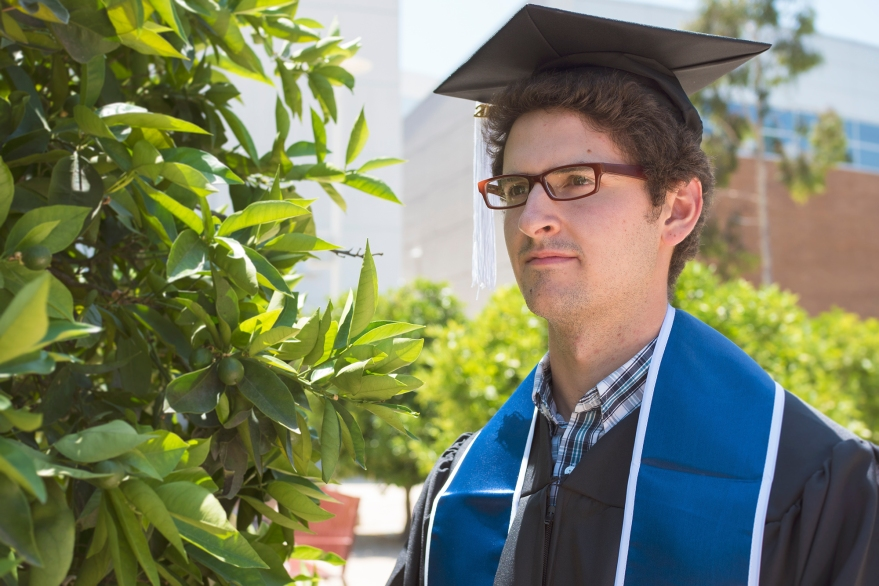 A graduation portrait of my brother Daniel in May 2015.