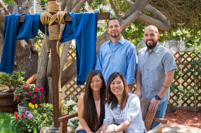 A portrait of my church's pastors and their wives for Easter in April 2015.