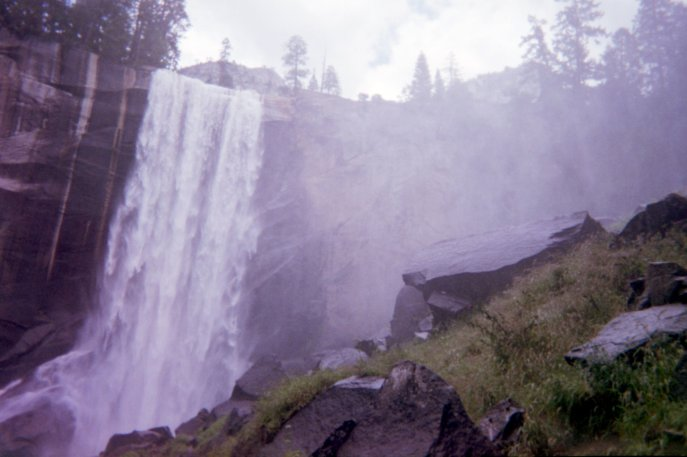 Yosemite, July 2015. Taken with a Fujifilm 400 disposable camera.