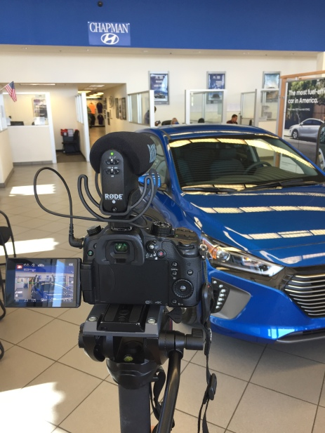 Behind the scenes from a Hyundai video shoot
