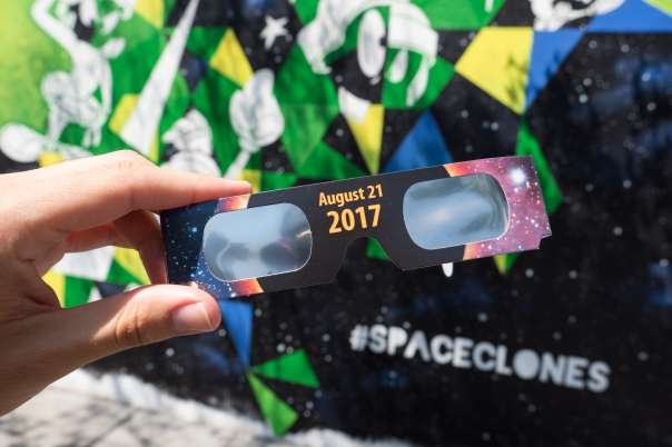 Watching the total solar eclipse in Downtown San Diego, August 2017.