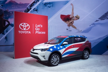 Toyota booth at the Chicago Auto Show, February 2018